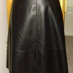 Women Lord&Taylor Flared Leatherette Skirt -24